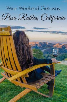 A weekend getaway to Paso Robles, California. Wine tasting, farm-fresh food, and… A weekend getaway to Paso Robles, California. California Coast, California Travel, California Wine, Central California, Central Coast, Northern California, San Diego, San Francisco, Weekend Trips