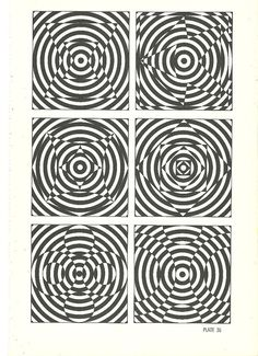 vintage print optical illusion art book plate by RecycleBuyVintage, $8.00