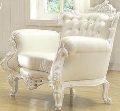 Neo Classic Glitzy White Accent Chair 59137
