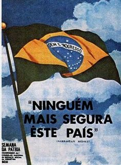 Seguindo os passos da História: A Ditadura Militar Brasileira (1964-1985) foi realmente uma ditadura? Military Dictatorship, New Years Eve Party, Armed Forces, Vintage Posters, Ww2, Brazil, Improve Yourself, Nostalgia, Air Force