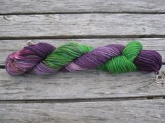 Hand Dyed Certified Organic Wool Bulky Yarn 50 by RockingtheWool, $10.00