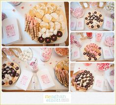 pink and coral wedding  dessert table  Meaghan Elliott Photography www.mephotography.com