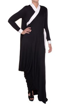 Black White, Bold, Classy Abaya