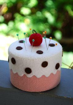 Fat free cake pincushion!