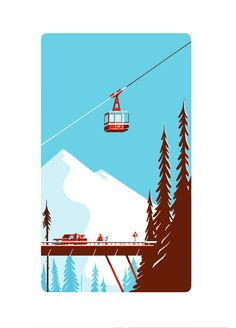 Tom Haugomat, Paper toy (cable car) on Behance