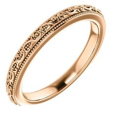 Damask Wedding Band 'Dauphine' Wedding Ring Set