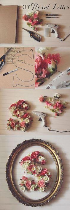 DIY Floral Letter - 35 Creative DIY Letters in Life  <3 <3