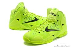 Lebron 11 Shoes Electric Green Black Volt 616175 302 Authentic