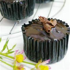 Cupcake de chocolate com café