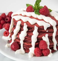 Red Velvet Pancakes Made W/ Whole Wheat Flour| Fitness Food Diva