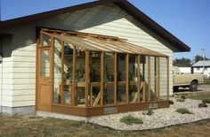 6 x 12 Deluxe glass to ground greenhouse on Sturdi-built base wall