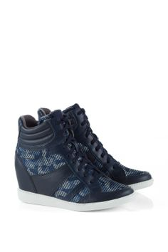 #Esprit camouflage #wedge #trainers