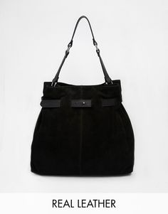 ASOS Leather And Suede Drawstring Shoulder Bag saved by #ShoppingIS