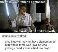 Luke/Anakin lightsaber
