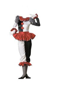 Whether you are looking to make someone laugh or jump in fright, Costume Craze has the latest in clown costumes. Purchase one of our high quality clown costumes with deals of off or more. Pierrot Costume, Pierrot Clown, Jester Costume, Adult Costumes, Dance Costumes, Costumes For Women, Halloween Circus, Halloween Costumes, Clown Costumes