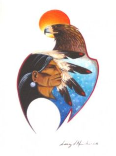 Eagle Chief by Garry Meeches(Ojibway) Modern Indian Art, Canadian Artists, Native Art, Art World, American Indians, Nativity, Rooster, Disney Characters, Fictional Characters