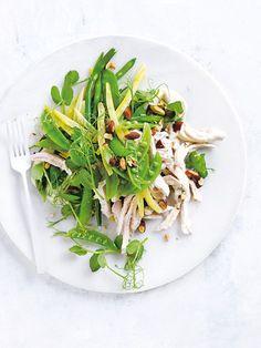 almond milk-poached chicken salad