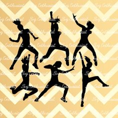 Black Dancer Silhouettes of Women   7757970-silhouettes-of ...