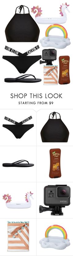 """Pool Party! "" by truthhh ❤ liked on Polyvore featuring interior, interiors, interior design, home, home decor, interior decorating, Calvin Klein, Mix & Match, Havaianas and Funboy"