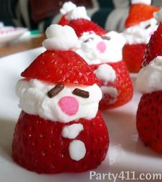 holidays in july Party ideas. Party planning tips. Sherri Foxman, The Party Girl and the party experts @ , share great party planning tips, Christmas Cds, Christmas In July, White Christmas, Christmas Decorations, Xmas, Holiday Cocktails, Holiday Parties, Party Favors, Strawberry Santas