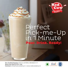 Check all healthy, tasty as well as fresh milk, milk products, dairy foods & beverages from Red Cow Dairy. Milk Nutrition, Fresh Milk, No Dairy Recipes, Pick Me Up, Healthy Drinks, Energy Drinks, Cow, Beverages, Tasty