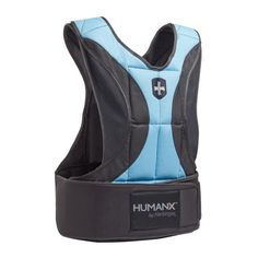 HumanX Weight Vest, 10 lb. Increase your workout intensity and build strength, power and endurance faster. 10lb Weight Vest - fully adjustable in 1/2lb increments, 1/2-10lbs. Custom impact-resistant FLEX weights contour to torso and stay in position. Tailored design with fully adjustable shoulder straps and neoprene belt conforms to body for secure fit and max mobility. Abrasion-resistant outer shell with dual padded shoulders and chest.