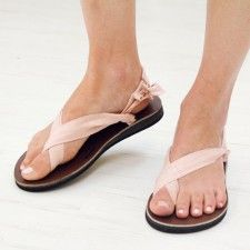 Pink Champagne Silk Sandals Front #ethicalfashion