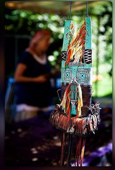 In the webshop: Tuareg Decorated, Painted Leather Neckpurse/bag with Fringes, Mali  More Info: https://www.etsy.com/listing/459020556/tuareg-decorated-leather-neckpurse-with #tuaregneckpurse #leatherbag
