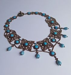 Lace with turquoise
