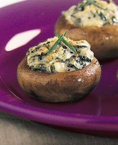 Spinach Stuffed Mushrooms-yum I love stuffed mushrooms   ★★★Loved & Re-Pinned by: The WORLD'S FIRST Social Classifieds Community!  Chat, Personal Profiles, Charities +MORE!!★★★