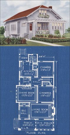 1921 american homes beautiful by cl bowes co, design #11965.  Reconfigured slightly, this design is great