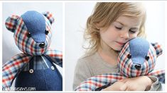 Learn how to properly install child safe eyes and noses in your memory bears!  #memorybear