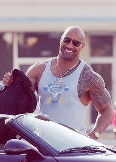 Dwayne Johnson - Um no that's my husband Joe. hehehehe