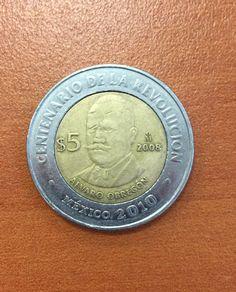 Álvaro Obregón, monedas de México