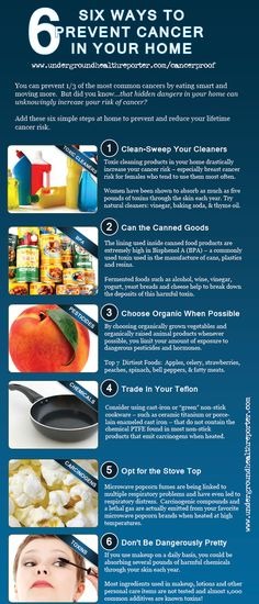 6 Ways to prevent cancer in your home #Infographic