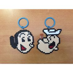 Popeye and Olivia perler beads by perlerbead_gsswagger