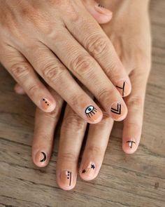 Edgy Nails, Hot Nails, Stylish Nails, Hair And Nails, Mens Nails, Easter Nail Art, Minimalist Nails, Dream Nails, Nail Manicure