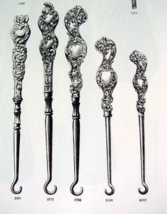 Dress hooks in a 19th century catalog