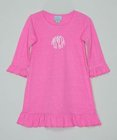Pink Monogram Dress - Infant, Toddler & Girls