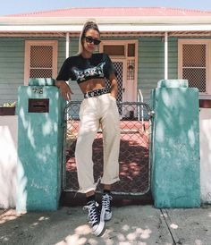 Swans Style is the top online fashion store for women. Shop sexy club dresses, jeans, shoes, bodysuits, skirts and more. Punk Outfits, Outfits With Converse, Mode Outfits, Trendy Outfits, Summer Outfits, Fashion Outfits, Womens Fashion, Autumn Outfits, Black Converse