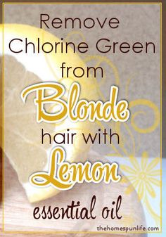 Removing chlorine from your hair