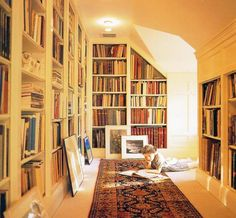 I think I could live in a cardboardbox, as long as there were built-in book cases.