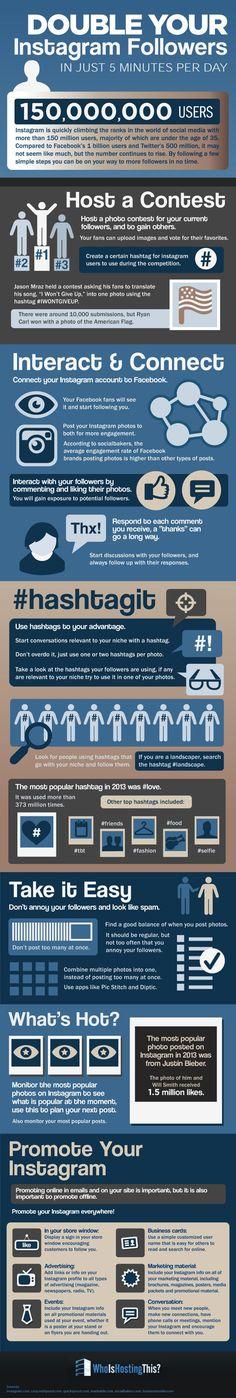 Cómo multiplicar los seguidores en Instagram [Infografía]