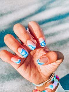 Nail Design Glitter, Cute Acrylic Nail Designs, Simple Acrylic Nails, Best Acrylic Nails, Summer Acrylic Nails, Spring Nails, Summer Nails, Cute Gel Nails, Funky Nails