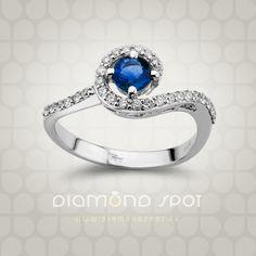 Safiri - Nakit sa safirima i dijamantima - Zlatara Diamond Spot, Beograd Heart Ring, Sapphire, Rings, Jewelry, Diamond, Jewlery, Jewerly, Ring, Schmuck
