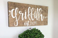 wood last name sign family sign family name by RusticSoulDesign