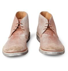 { Maison Martin Margiela - Washed-Leather Desert Boots - 361865 | MR PORTER }