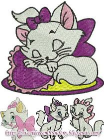 Sweet Free Embroidery: Aristocats Marie Free Embroidery