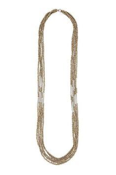 Tiffany Kunz: Echo Collection Tube Multi Strand Long Necklace in Copper or Gold
