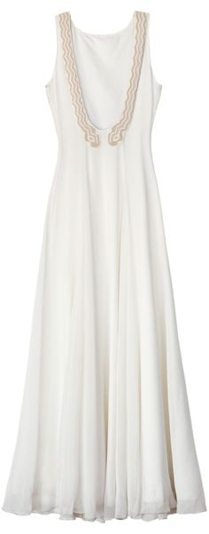 The Back of the Mara Hoffman Exclusive Coiled Snake Bridal Gown